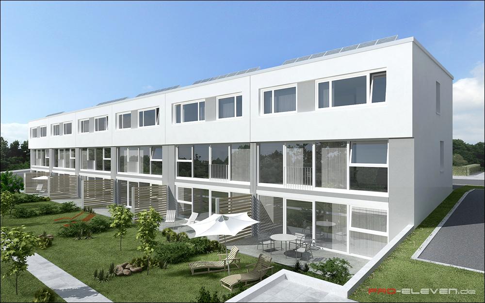 projekte architektur reihenhaus ludwigsburg pro eleven m nchen architektur und. Black Bedroom Furniture Sets. Home Design Ideas